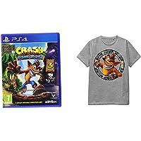 Crash Bandicoot N. Sane Trilogy - PlayStation 4 + T-Shirt Crash Spin Jump Wump (Grey) M