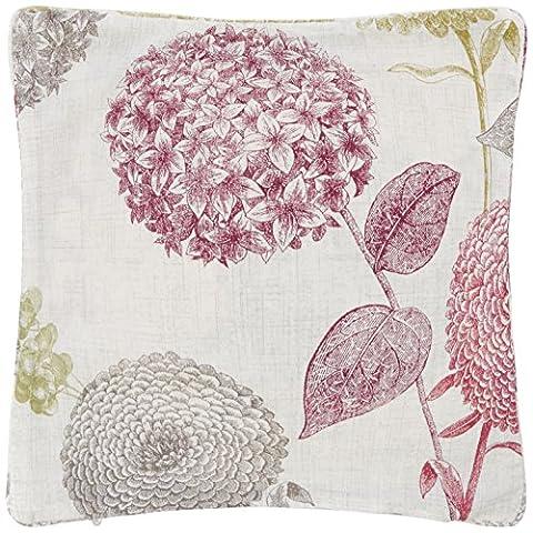 Ashley Wilde Avril - Oreiller 100% coton, 45x45 cm, couleur avril-berry