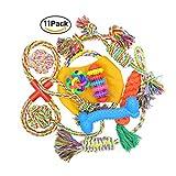 Set di giocattoli in cotone e corda per cani, palle da masticare per la pulizia dei denti, di diverse misure per cuccioli di piccole e medie dimensioni