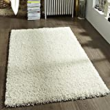 TrendMakers Thick Pile Shaggy Rugs 80 x 150 cm Rug, CREAM