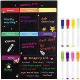 MoKo Calendario Magnético de Frigorífico con 8 Bolígrafos de Colores, Planificador Magnético de Refrigerador para Proyecto Es