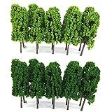 Lot de 20pcs Echelle 1:150 Arbre Miniature pour Modèle Paysage ...