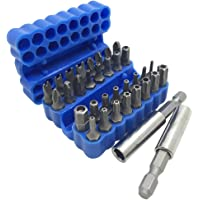 FineGood 34 pezzi Set di punte per cacciavite con prolunga portapunta magnetica, chiave Torx di sicurezza anti…