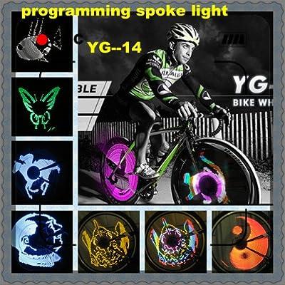 24 led werbung led speiche led speichen led rad Programmierbar mit Software felge,reifen,licht,beleuchtung schild FARBE BUNT