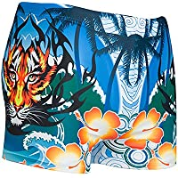 YT Pantalones de natación multicolores estampados para hombres,# 6,Código más gran
