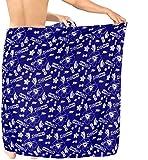 LA LEELA Männer Sarong Badebekleidung Coverup Bademode Badeanzug Badeanzug hawaiische königsblau