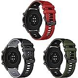 Songsier Armband kompatibel med Huawei Watch GT2 Pro 46 mm/Watch GT 46 mm/Watch GT Active/Watch 2 Pro/Galaxy watch 3 45 mm/Ga