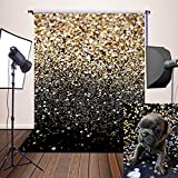 Daniu Abstract Photography Backdrops Stars Golden Fantasy Background Photo Props for Baby Vinly 5x7ft Daniu-dn015