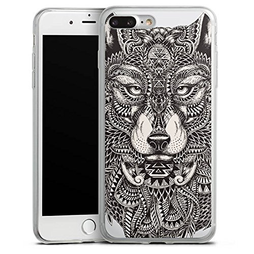 Apple iPhone X Slim Case Silikon Hülle Schutzhülle Mandala Wolf Hund Silikon Slim Case transparent