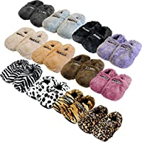 Original Hot Sox Plush Heatable Grain Foot Warmer Slippers