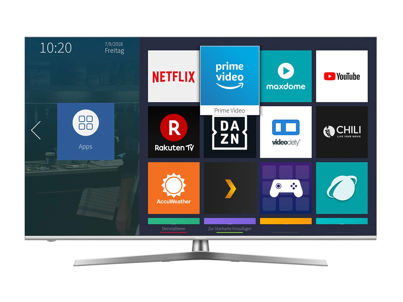 Hisense Fernseher (4K Ultra HD, HDR 1000, DolbyVision, Triple Tuner, Smart-TV, USB-Aufnahmefunktion, WCG)