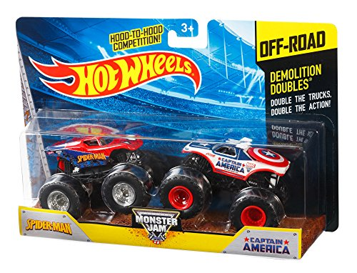 Hot Wheels–x9017–Modelo Aleatorio–Pack 2Vehículos Monster Jam–Echelle 1/64
