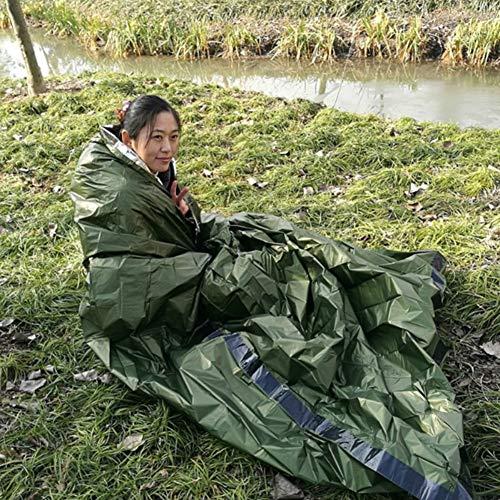 Balight Emergency Sleeping Bag Umschlag Ultraleichte, Wiederverwendbare, Faltbare Notfalldecken Thermische, tragbare Outdoor-Camping-Taschen mit Karabinerpfeife Schlafsäcken