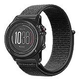 Fintie Armband für Garmin Fenix 3 / Fenix 3 HR/Fenix 5X / Fenix 5 X Plus Smart Watch - Premium Nylon atmungsaktive Uhrenarmband Ersatzband mit verstellbarem Verschluss, Schwarz