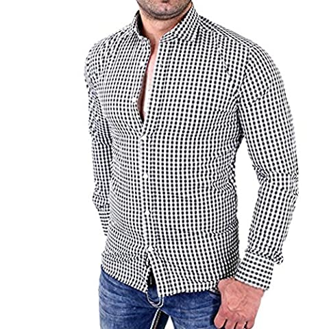 Costumes Drôles Pour Les Dames Enceintes - Malloom Hommes Chemises à carreaux Manche à