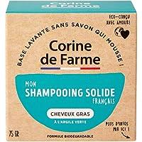 Corine de Farme   04097301 Shampoing Solide Cheveux Gras   Vegan - Formule Argile Verte Purifiante   Shampoing…
