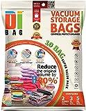 Housses de rangement sous vide - 10 sacs de voyages pour économiser de l'espace - 2 Jumbo , 3 L et 5 M - Sac de compression aspirable pour ranger vêtements, couettes, lit et valise - DIBAG