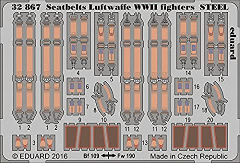 (EDP32867) - Eduard Photoetch 1:32 - Seatbe lts Luftwaffe WWII Fighters (S
