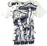 Guru-Shop Sure T-Shirt Magic Mushroom, Herren, Weiß, Baumwolle, Size:XL, Bedrucktes Shirt Alternative Bekleidung