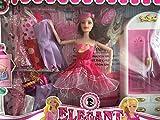 Puppe mit vielen Kleidern und Kleiderschrank. Tolles Geschenk für Kleinkinder Kinder Prinzessin Spielzeug für Mädchen