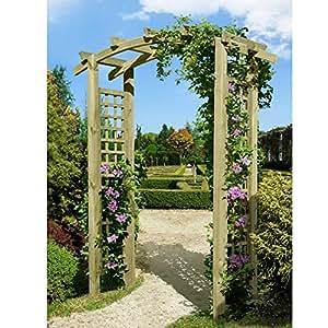 Eingangspergola 160x62x220 cm pergola aus holz mit rankelementen von gartenpirat garten - Garten pergola holz ...