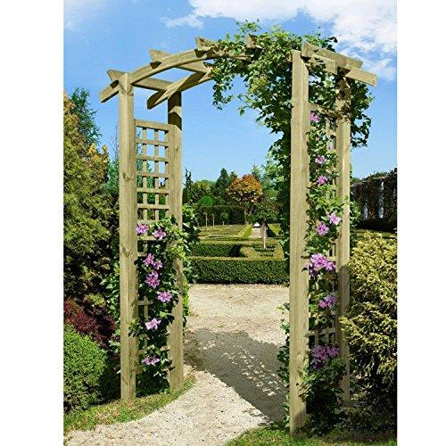 floristikvergleich.de Eingangspergola 160x62x220 cm Pergola aus Holz mit Rankelementen von Gartenpirat®
