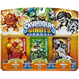 Figurine Skylanders : Giants - Stealth Elf + Eruptor + Terrafin Compatible avec Trap Team