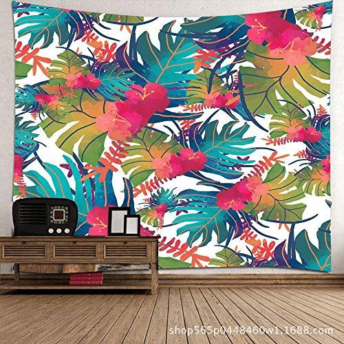 KaO0YaN Hippie Mandala Tapices, Bohemio Tradicional Colgante Decoración, Indio Boho Gypsy Algodón Mantel Toalla de Playa, Tapiz de Pared Colgante, Color Hoja de plátano, 150x130cm