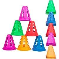 25 Pz Sport Coni di Addestramento, Set Coni Sport, Coni Allenamento Colorati Coni Ostacolo Pattinaggio a Rotelle…