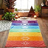 MEIbax Hot Rainbow Beach Mat Wand Dekoration Mandala Decke Wandbehang Tapisserie Streifen Tischdecke Strandtuch Schöne Wanddeko (Mehrfarbig)