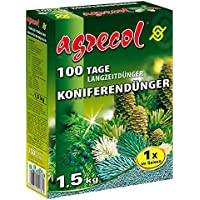 Premium largo tiempo abono para 100Días–coníferas abono para cipreses enebro y todas las Plantas de aguja Árboles 1,5kg para 40