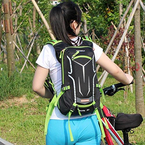 TFgirls 18L Fahrrad Rucksack Outdoor Sport Reise Wandern Rucksack Road Radfahren Wasser Flasche Tasche Blau