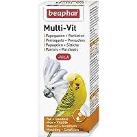 BEAPHAR – Multi-Vit, vitamines pour perruche et perroquet – Contient 12 vitamines – Assure une santé optimale – Apporte…