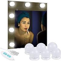 Anpro 6 Ampoules Lumière de Miroir 3 Couleurs Lumineuse- Blanc Froid,Nature,Chaud Lumière LED Dimmable Alimentée Par USB…