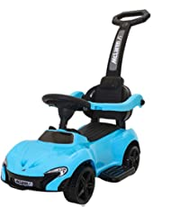 GoodLuck Baybee Boy's and Girl's PVC Plastic Music with Parent Control Push Bar Car and Small Toy (Blue, 1-3 Years)