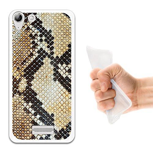 WoowCase Wiko Selfy 4G Hülle, Handyhülle Silikon für [ Wiko Selfy 4G ] Tier Pythonschlangedruck Handytasche Handy Cover Case Schutzhülle Flexible TPU - Transparent