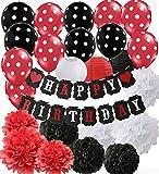 Decoraciones de la fiesta de cumpleaños de Mickey Mouse rojo...