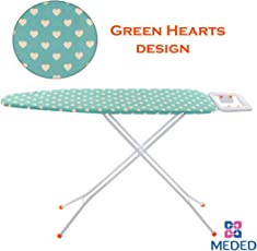 Meded Premium International Quality Ironing Board/ Iron Table Stand With Press Holder, Foldable & Height Adjustable (110 x 33 cm)