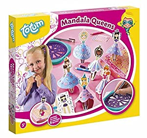 Totum - Kit Decorativo Queens - crée TES Danseuses en Mandala, to022034, Large