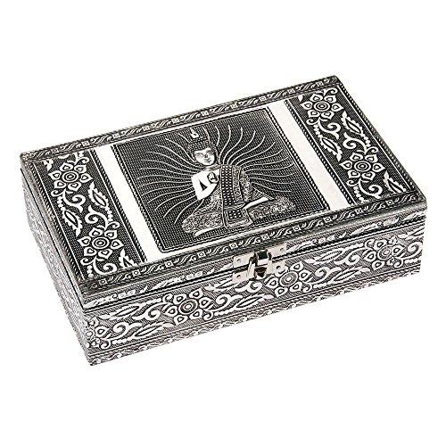 HAB & GUT -BOX015V- Caja joyero de Aluminio, Buda, 20 x 12 x 6 cm