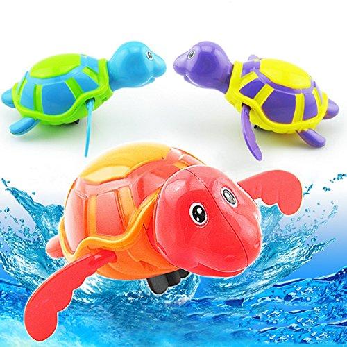 Bluelover Baby Badewanne Spielzeug Uhrwerk Große Cartoon Schwimmen Kette Schildkröte