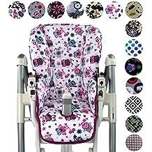 Bambini - Funda de repuesto para silla Peg Perego Prima Pappa Diner (7colores), diseño de búhos