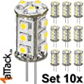 1aTTack.de 85357 LED-Chip für G4 Lampensockel mit 15 SMD LEDs 10-teilig von Mundo del Arte GmbH auf Lampenhans.de