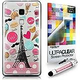 CASEiLIKE París vacaciones 3904 Bumper Prima Híbrido Duro Protección Case Cover Funda Cascara for Huawei Mate S +Protector de Pantalla +Cristal Stylus plumas (Color al azar)