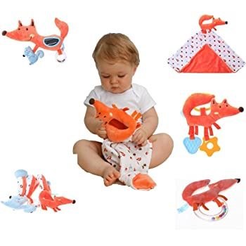 Baby Handkerchief Stroller Hanging Toy Rattle Bed Infant Baby Comfort Toy H