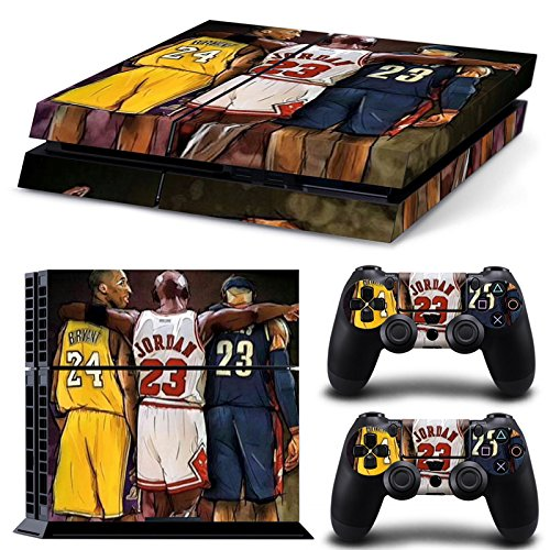 GameCheers PS4 Konsole and DualShock 4 Controller Skin Set - Basketball NBA - PlayStation 4 Vinyl