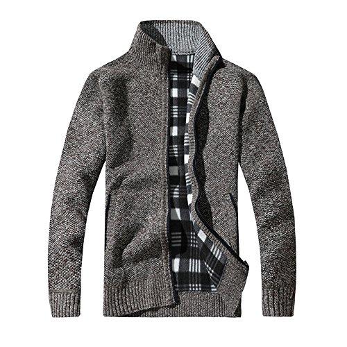 JYJM Herren Stehkragen Verdickung Pin Jacke Männer Pullover Pullover Herren  Mantel Jacke Herren. 50757f98a7