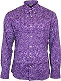 Relco - Herren Hemd Violett Paisley Langärmlig 100% Baumwolle Mod Skinhead Retro Indie Vintage 60er 70er - Violett, XXXL