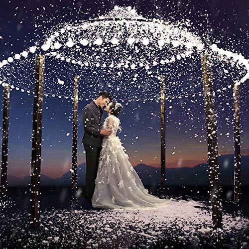 lichterkette deko 20LED Snowflakes Hollow String Licht im Freien Weihnachtsfeier Decor Lampe WHlichterketten für innenräumeWeißPVC (Globe-string-lichter Im Freien)