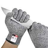 CHUANGLI Safety Cuts Resistant Gloves Kitchen Food Grade level 5 Protection Hand Safety for Cutting, Cooking, Outdoor Working